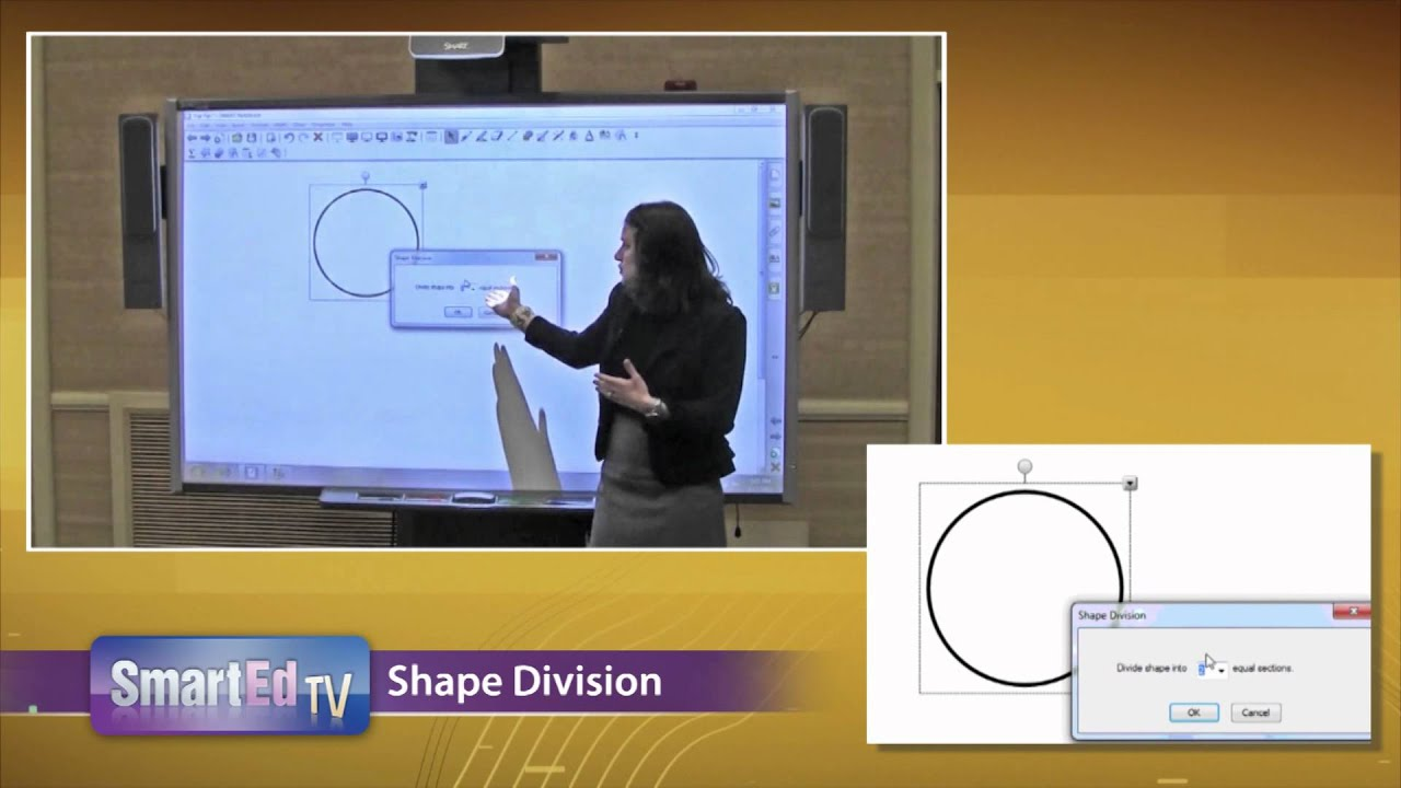 SMART Board Tutorial: Shape Division feature for SMART Notebook ...