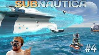 Subnautica #4 Большое строительство циклопа, креветки и базы