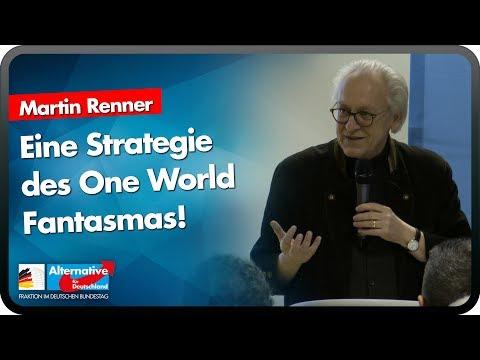 Eine Strategie des One World Fantasmas! - Martin Renner - AfD-Bürgerdialog Siegen 20.01.
