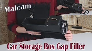 🌼MALCAM CAR LEATHER ORGANIZER STORAGE BOX GAP FILLER (Stop Gap) Cup Holder  PRODUCT REVIEW 👈