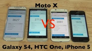 Motorola Moto X, Versus Galaxy S4, HTC One, iPhone 5