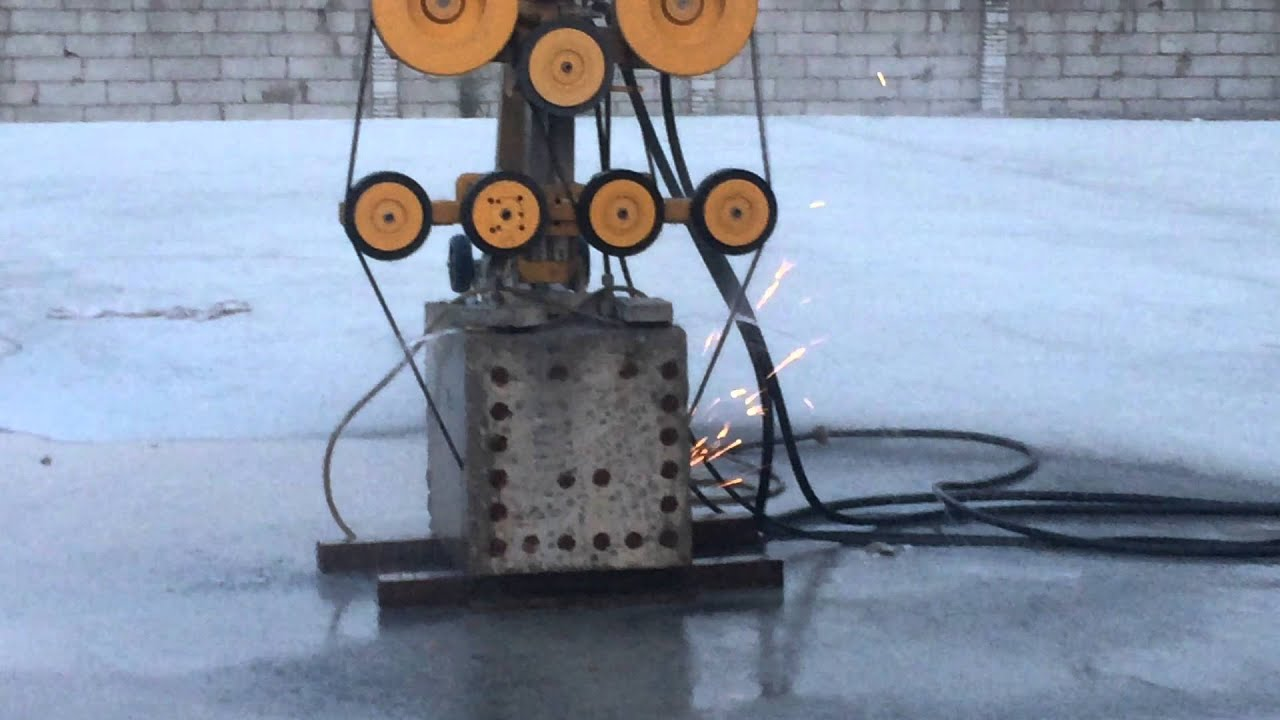 wireless diamond concrete wire saw cutting machine - YouTube