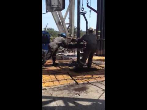 Drilling rig- tripping pipe