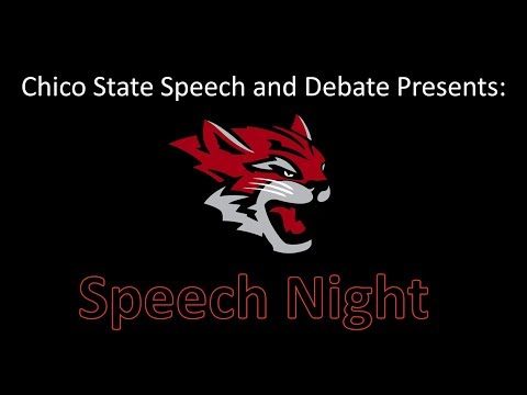 "Chico State Speech and Debate Presents ""Speech Night Fall 2013"""