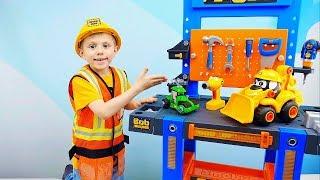 МАШИНКИ все серии подряд - Развивающие видео про Рабочие Машинки и Строителя Даника