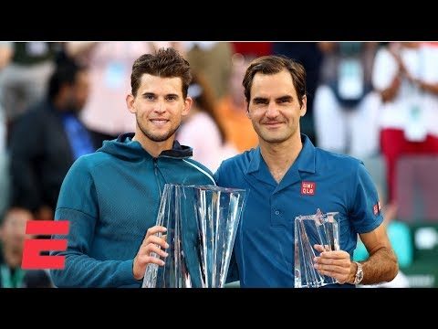 Roger Federer falls to Dominic Thiem in final at Indian Wells | Tennis Highlights