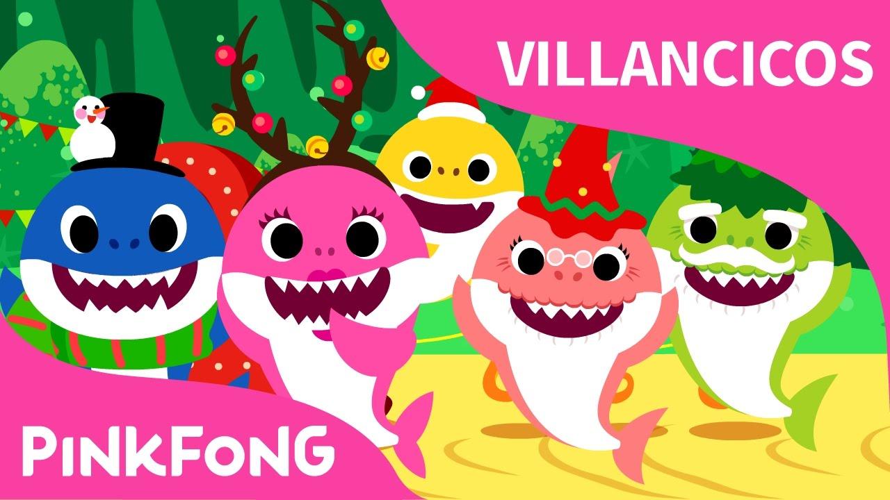 tiburones navideos villancicos de navidad pinkfong canciones infantiles