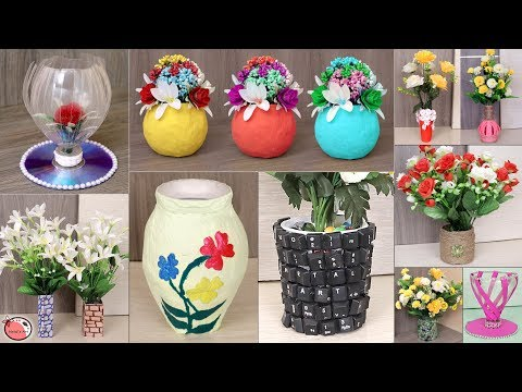 10 Best Out Of Waste Materials Craft Idea    DIY Pots !!!