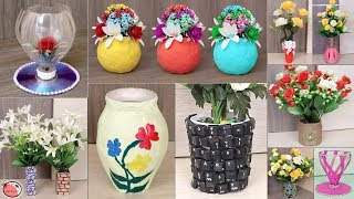 10 Best Out Of Waste Materials Craft Idea || DIY Pots !!!