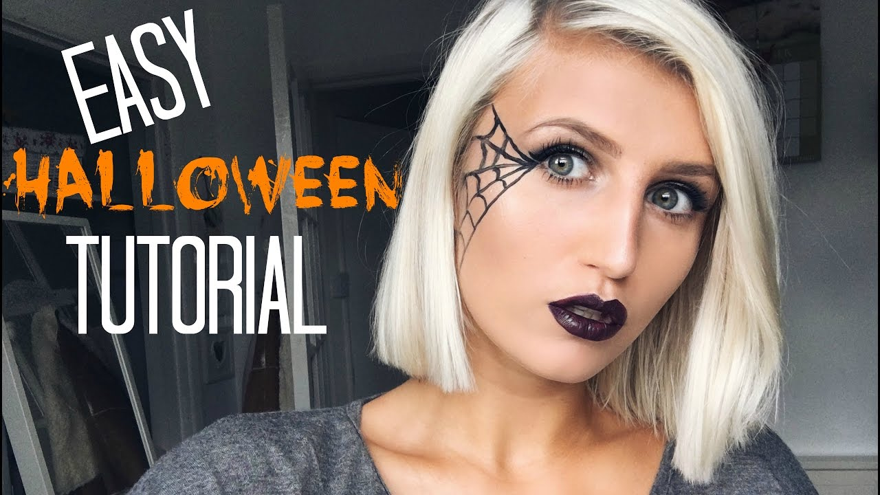 Easy Last Minute HALLOWEEN Makeup Tutorial | SPIDER WEB - YouTube