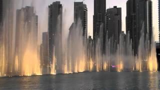 Dubai, fountain, 2016