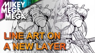 HOW TO SEPERATE YOUR LINE ART INTO IT'S OWN LAYER IN PHOTOSHOP