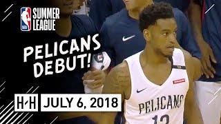 Trevon Bluiett Full Pelicans Debut Highlights vs Raptors (2018.07.06) Summer League - 24 Pts, 6 Reb