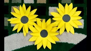 How to make a paper flower (sunflower) | sunflower easy make - step by step | Paper Craft-DIY |