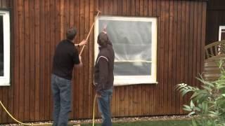 як правильно зробити двері в дерев'яному будинку