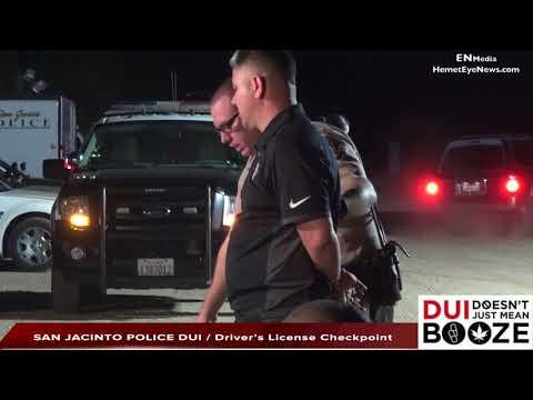 San Jacinto Police DUI : Driver's License Checkpoint