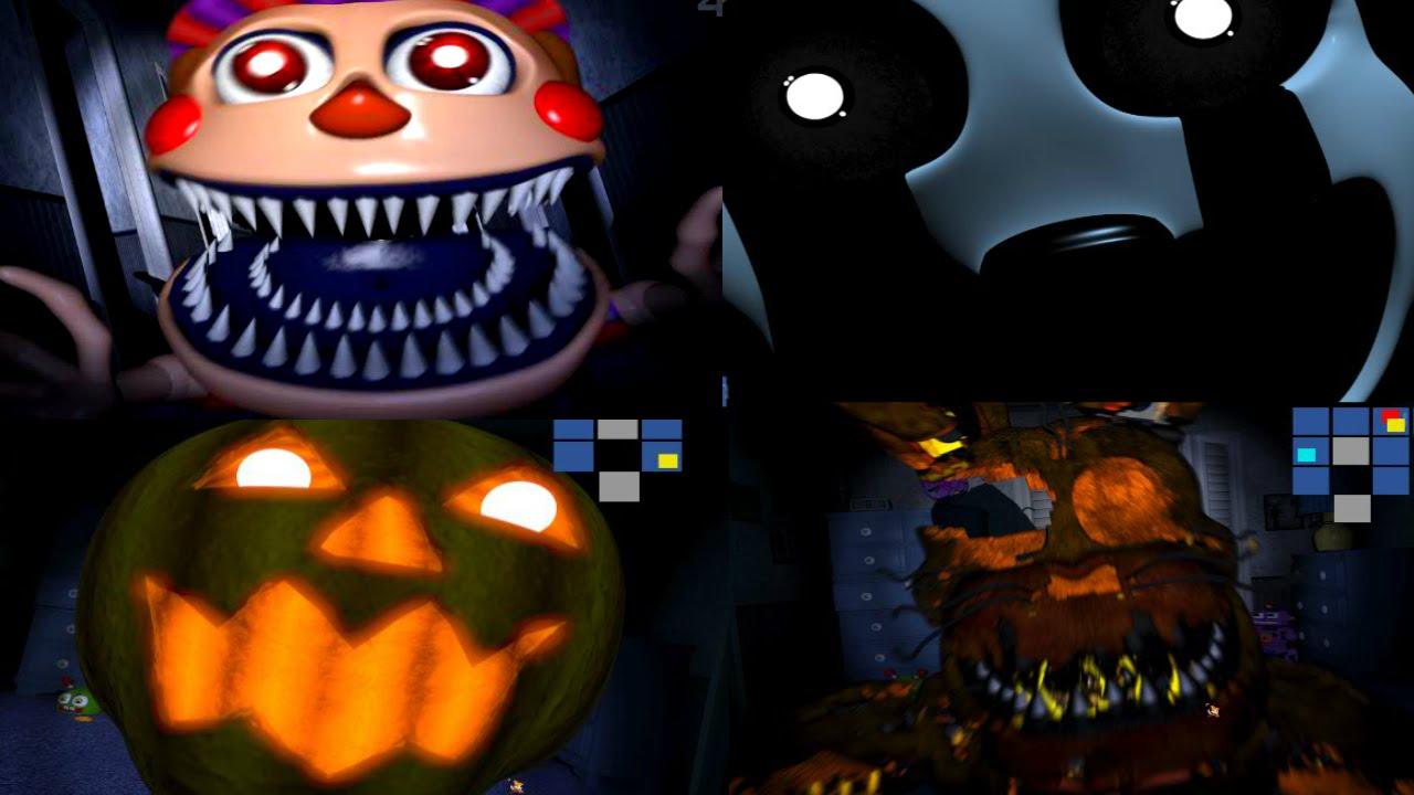 Halloween 2020 Jumpscares FNAF 4 HALLOWEEN EDITION | ALL JUMPSCARES   YouTube