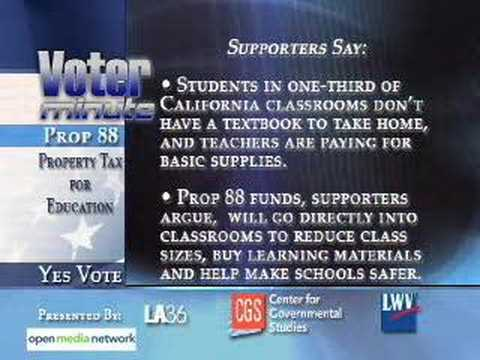 California Prop 88: Property Tax for Education