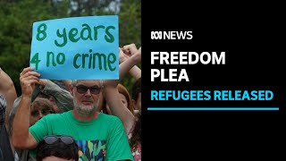 Four refugees released from a Darwin hotel as remaining families plea for freedom | ABC News