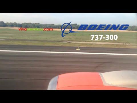 Vivaaerobus 737-300 landing Merida