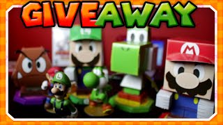 Creating Papercrafts Mario, Luigi, Peach & Goomba!