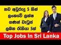 තව අවු:5 කින් ලක්ෂ ගනන් වැටුප් ඇති රැකියා 5ක්  -  Top Jobs in Sri Lanka