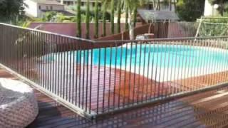 barriere de securite piscine amovible. Black Bedroom Furniture Sets. Home Design Ideas