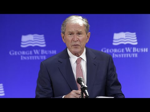 George W Bush: US politics 'vulnerable to outright fabrication'