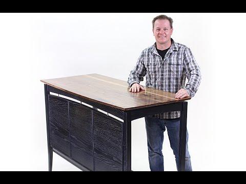 Wood Finishing A Standing Desk, Part 1: Modern Black Finish On An Ash Hardwood Base
