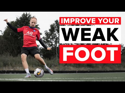HOW TO IMPROVE YOUR WEAK FOOT | Easy steps and training drills