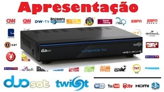 Receptor de Canais Duosat Twist Hibrido Media Center, IPTV, 3d, Iks, Sks, Sat, Cabo / Apresentação