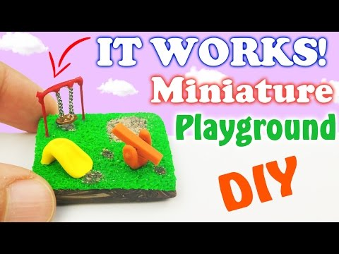 DIY MINIATURE PARK Polymer Clay & Resin Tutorial How to make resina dollhouse garden doll Crafts