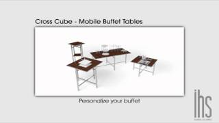 Mobile Buffet Table - Cross Cube