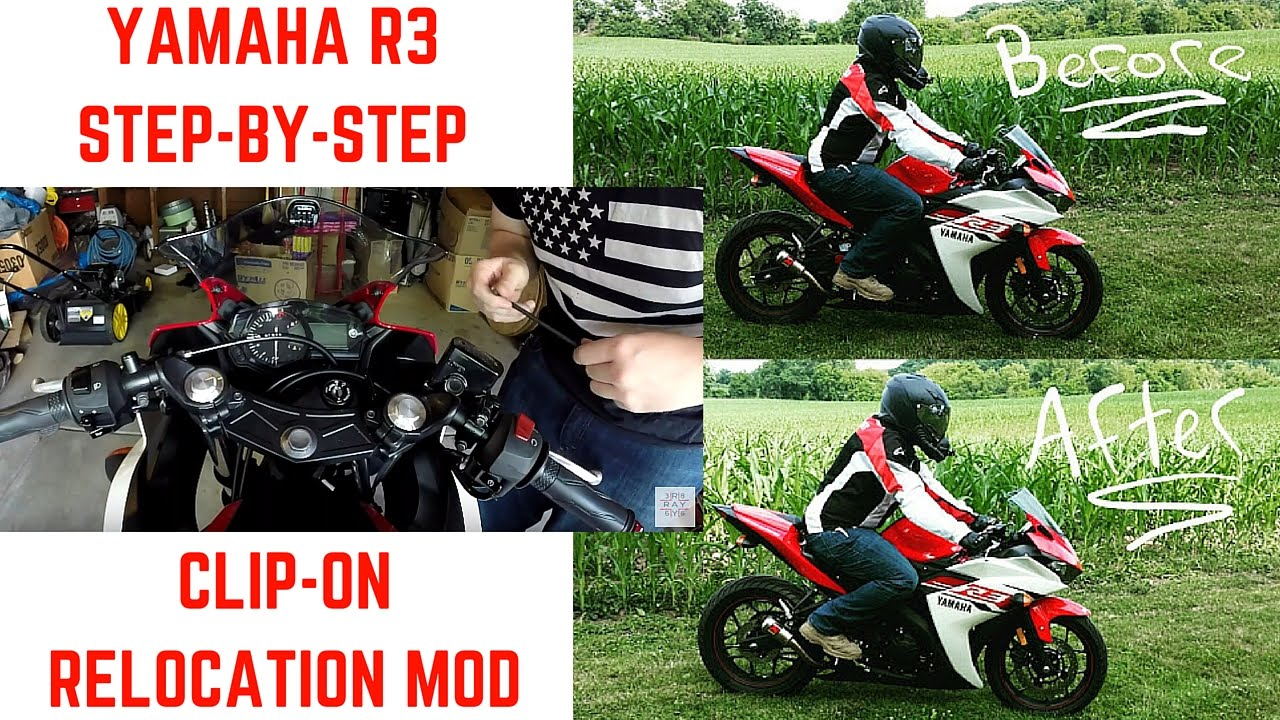 2af3d08720 Yamaha R3 Clip-On Relocation  Step By Step Tutorial - YouTube