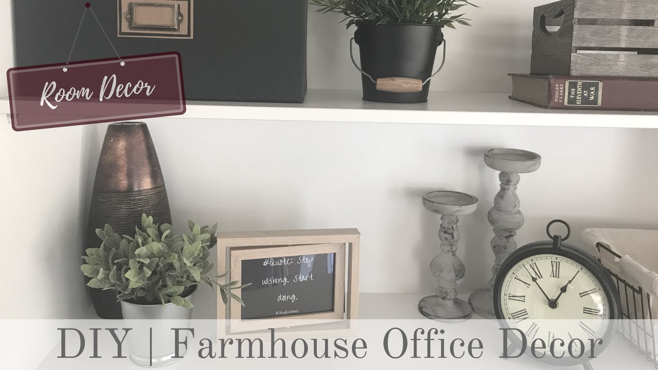 ROOM DECOR | Rustic Farmhouse Office Decor