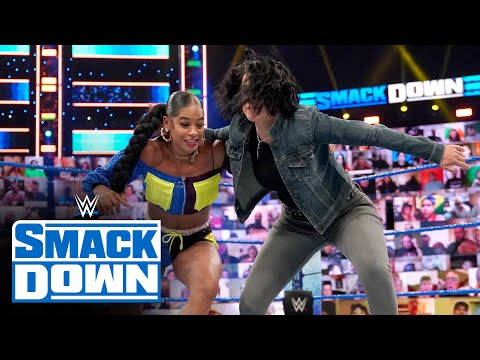 Bayley attacks Bianca Belair prior to their WWE Hell in a Cell showdown: SmackDown, June 18, 2021