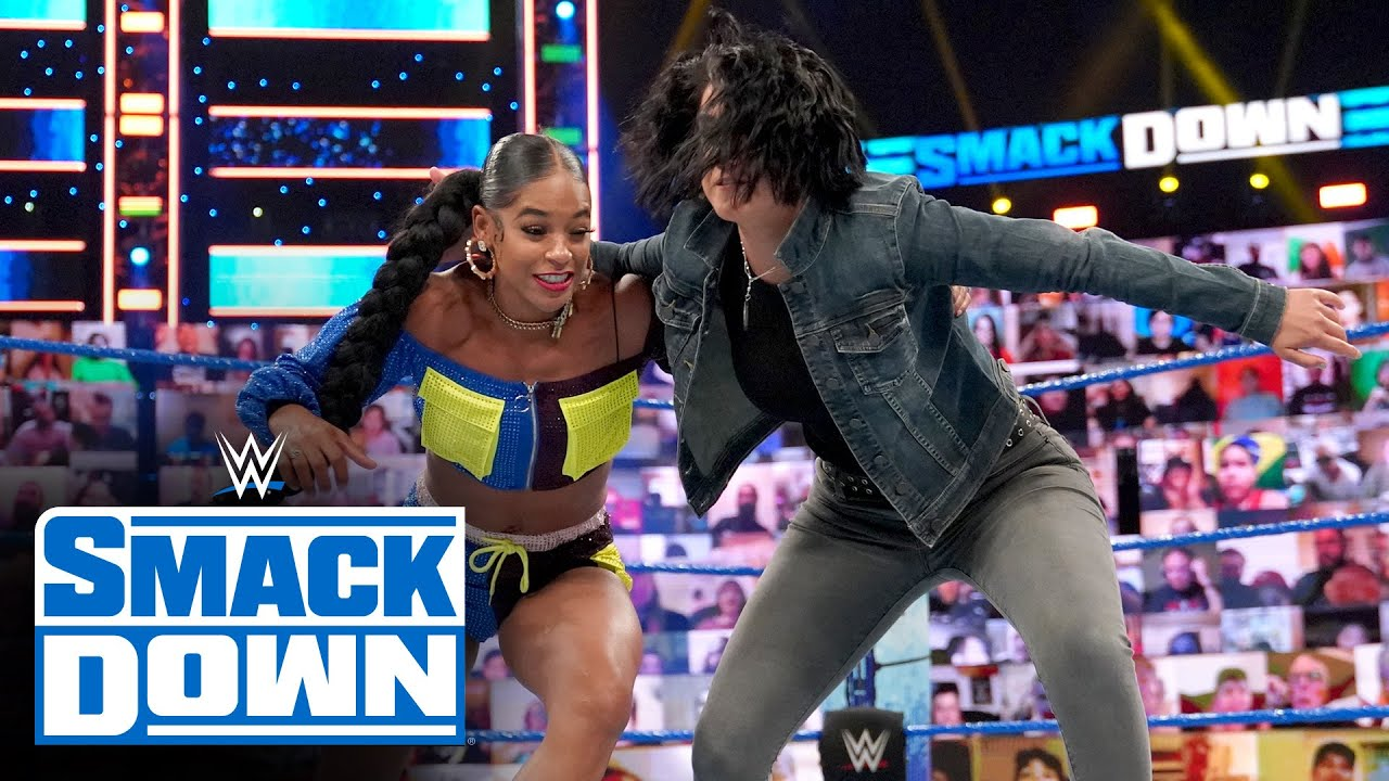 Download Bayley attacks Bianca Belair prior to their WWE Hell in a Cell showdown: SmackDown, June 18, 2021
