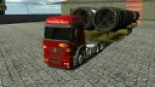 Como estacionar um bitrem no 18 W,O.S.Haulin BIG TRAILER. som escape direto. turbo