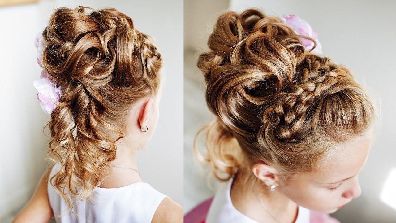 high braided girl's hair princess