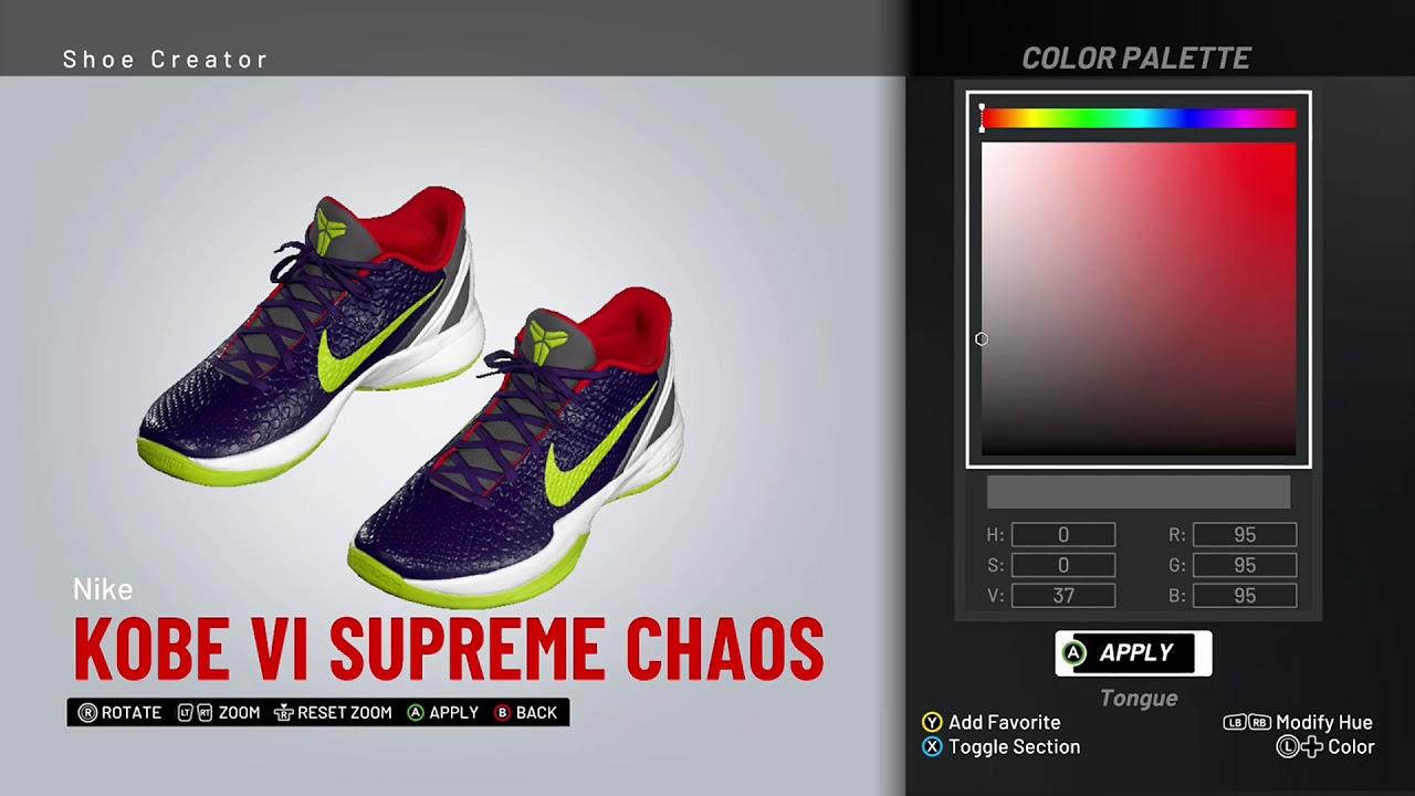 60ecbffedf49 NBA 2K19 Shoe Creator - Nike Kobe 6