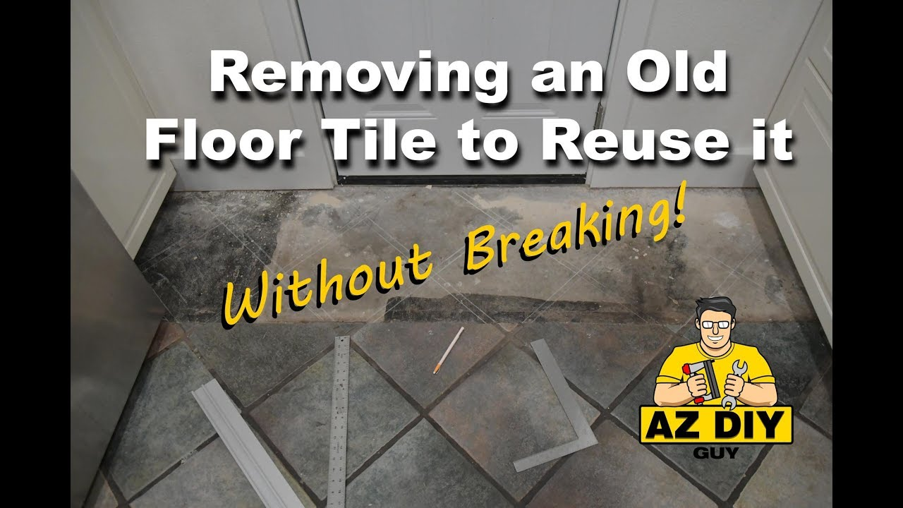 Removing A Floor Tile Without Breaking