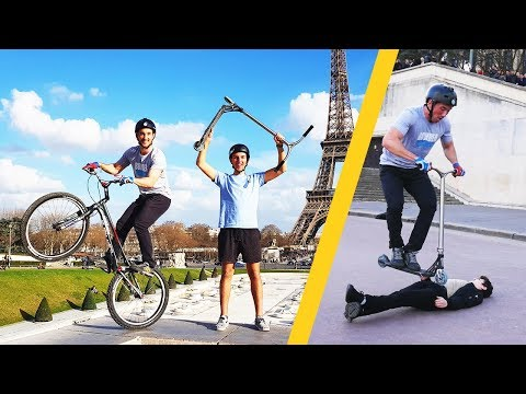 VÉLO vs TROTTINETTE ! (ft. Scoot 2 Street)