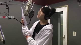 [Sub Español]BTS en estudio de grabación  JUNGKOOK Se ríe a carcajadas sobre sus propias grabaciones