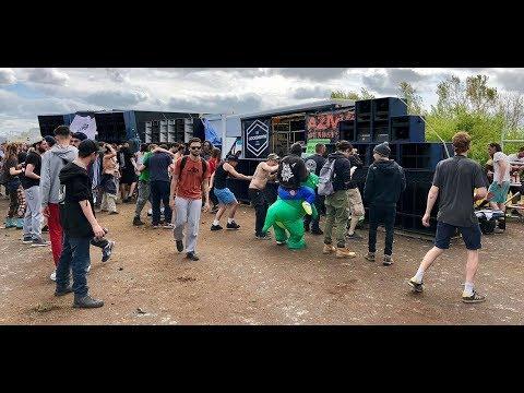 Teknival du 1er Mai 2018 à Marigny - petit tour des façades