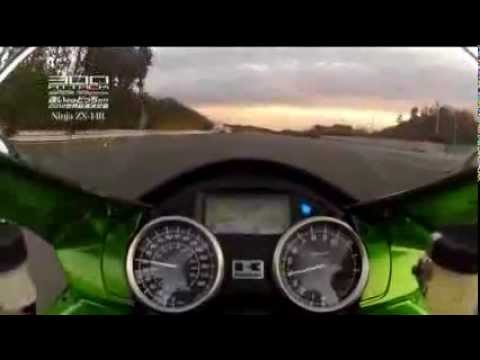 Kawasaki Ninja ZX-14 and Suzuki Hayabusa at top speed...! Must watch & Must share :) !!