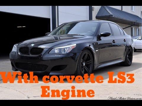 Bmw E60 Engine Swap Corvette LS3 engine 672HP - YouTube