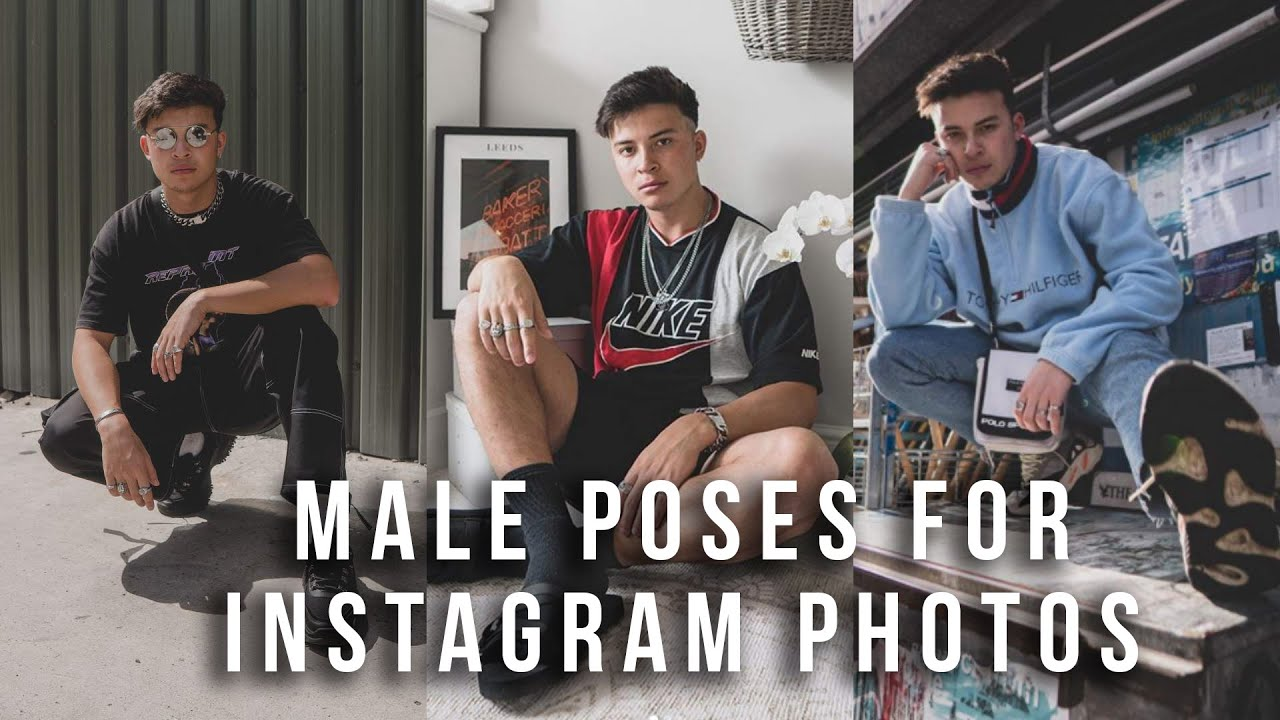 Male Poses for Instagram Photos
