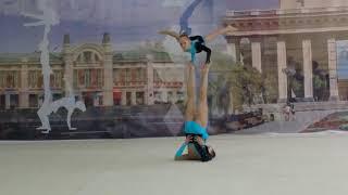 Спортивная акробатика. Женская пара. 11-16. Новосибирск. Софья и Арина.