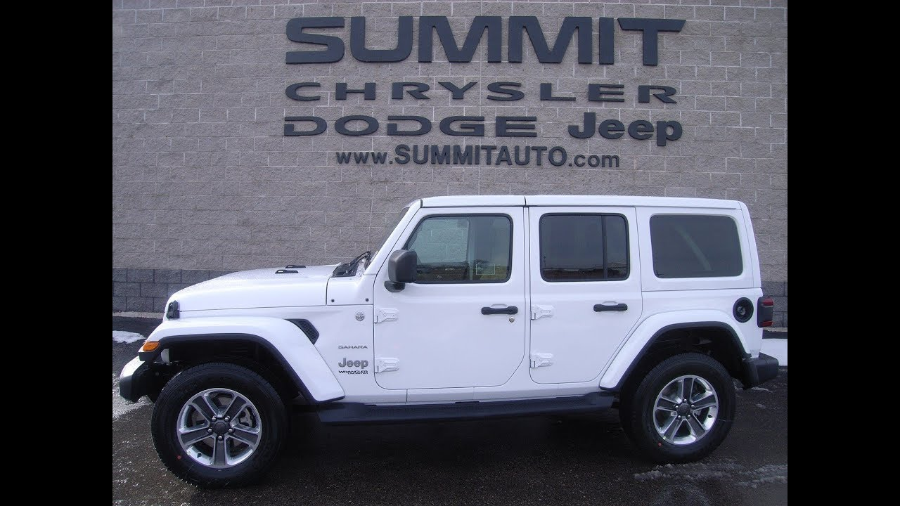 medium resolution of 2018 jeep wrangler sahara unlimited jl sahara review 4wd fond du lac 48 425 www summitauto com