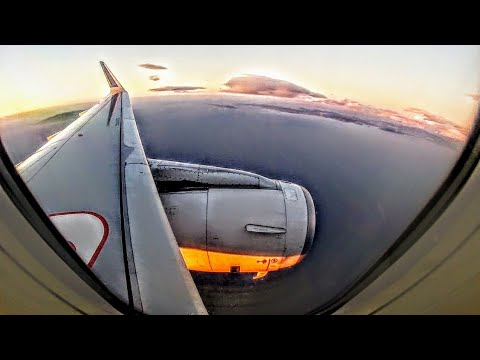 Olympic/Aegean Airbus A320ceo Sharklets Full Flight to Athens - GoPro Engine/Wing View RHO-ATH